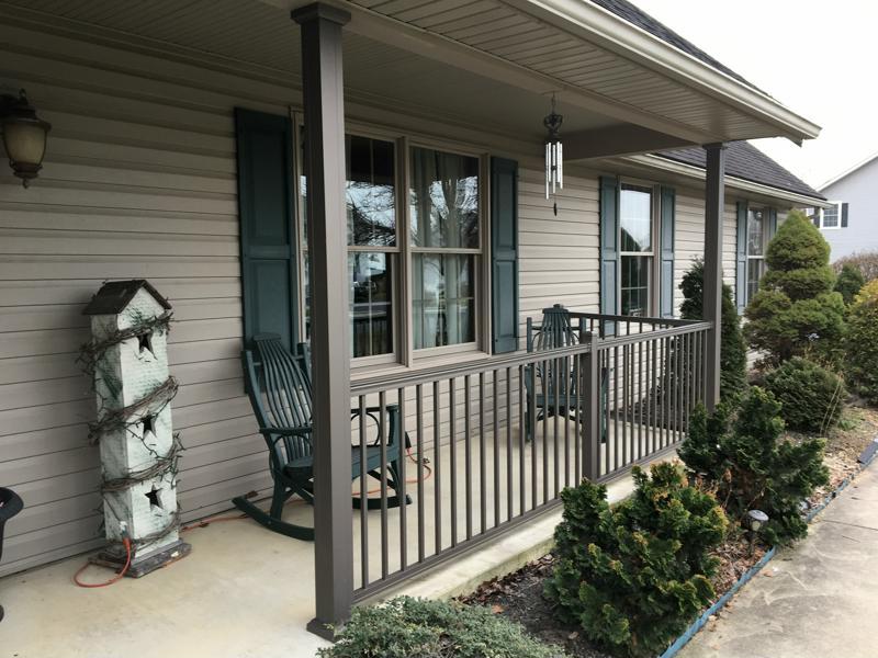 Aluminum Porch Posts And Railing 01