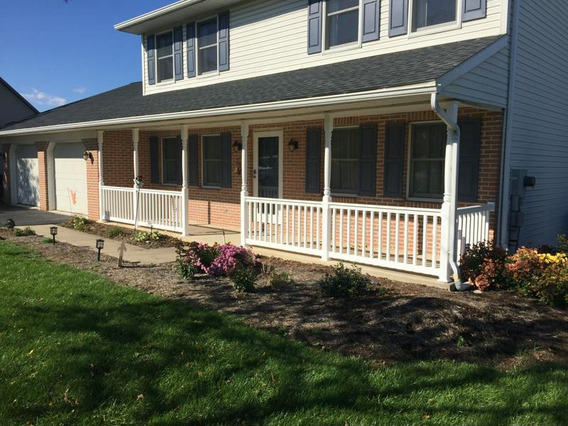 short llc posts raillings porch asp vinyl elite